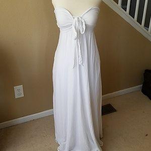 Victoria's Secret White Strapless Dress